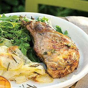 recipe cast iron grilled pork chops