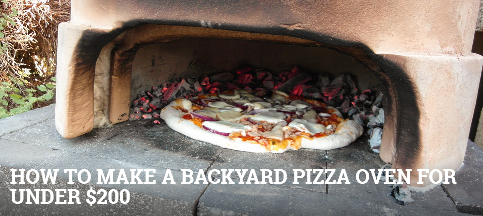 homemade pizza make your own oven