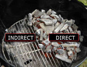direct & indirect heat grilling