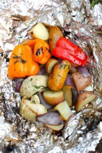 coals grilling