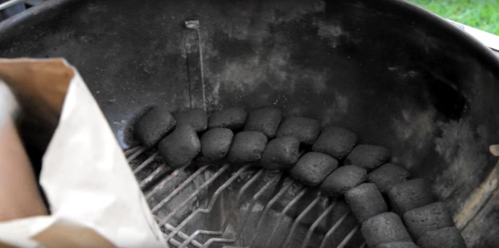 snake smoking charcoal grill