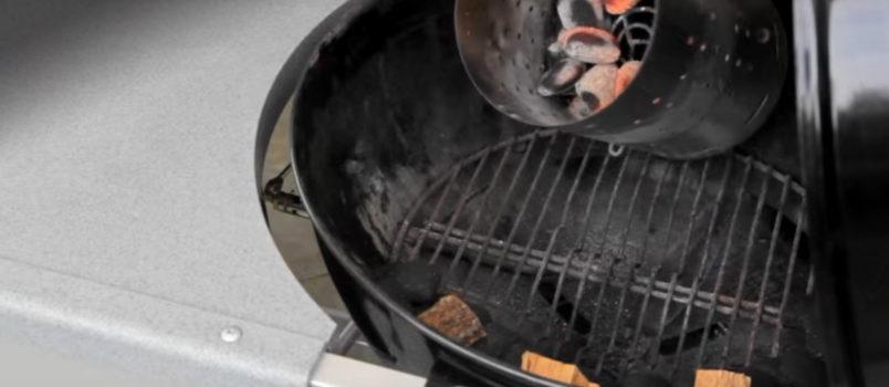 snake method smoking on kettle