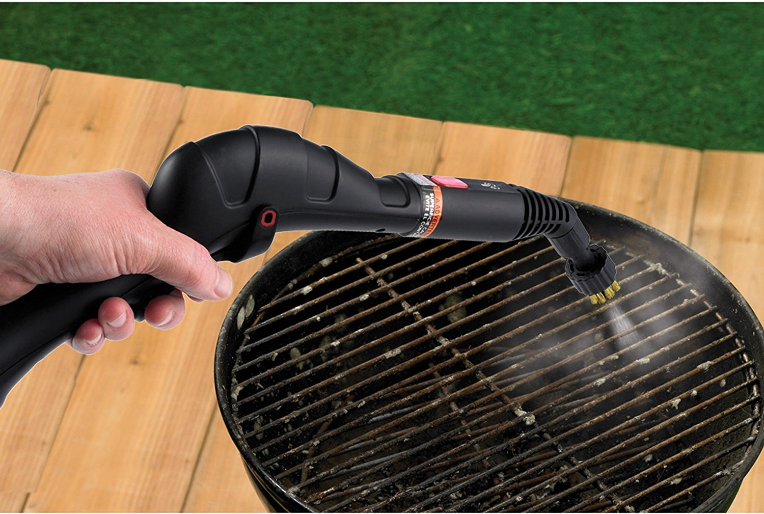 cleaning grill with steam
