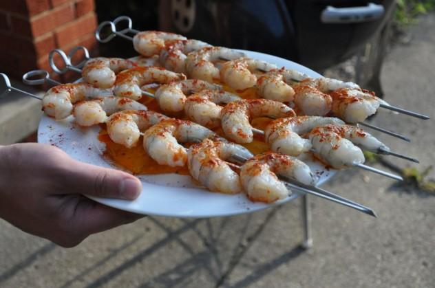Spicy smoked shrimp
