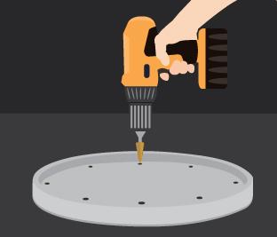 drilling barrel lid