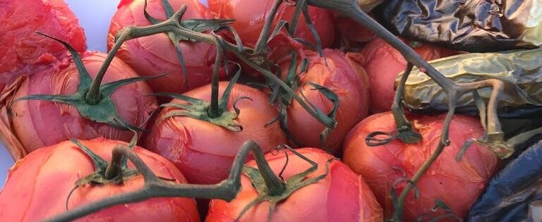 smoking tomatos for salsa