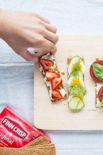 snack with finn crisps