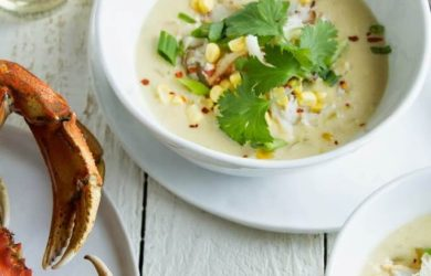 crab and soup