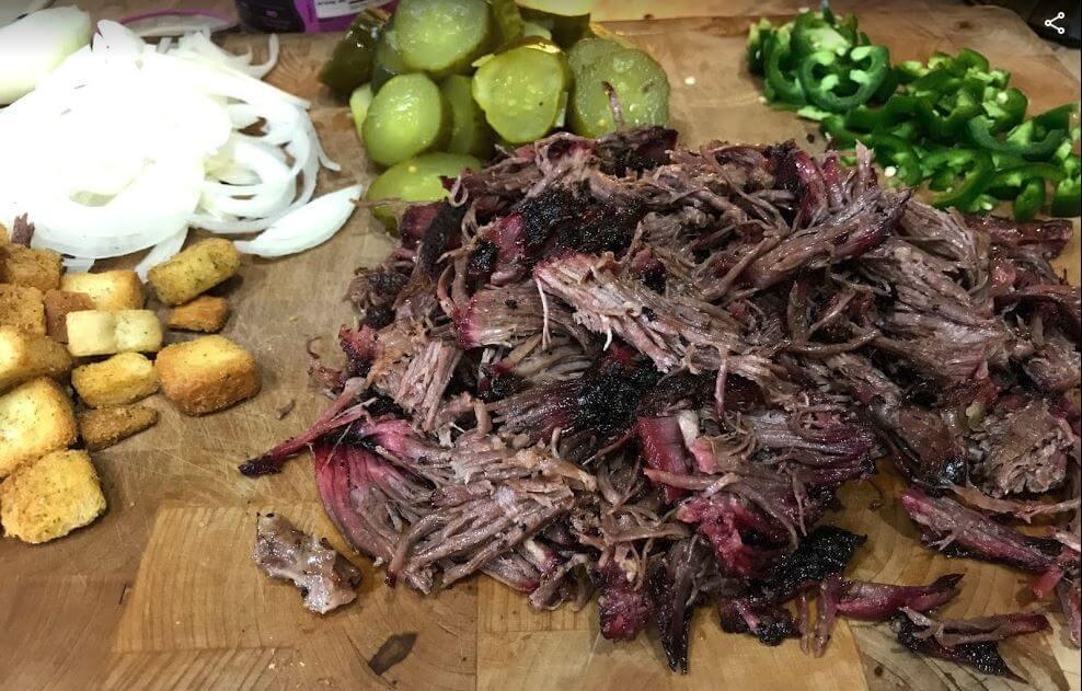 pulled roast texas platter