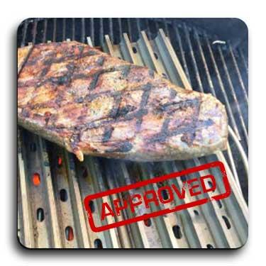 aluminum grill grate top