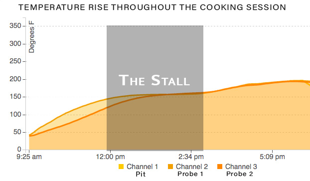 temperature graph throughout cooking