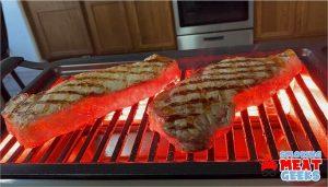 two brined strip steaks test
