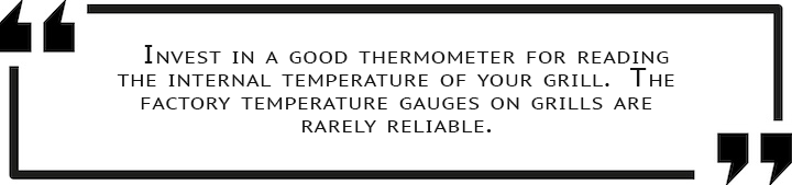 Quote check doneness with thermometer