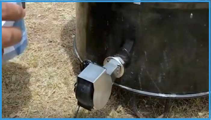 connecting fan to pit barrel smoker