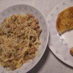 Sausage cooked pasta