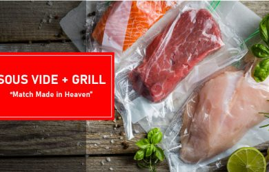 HYBRID COOKING with sous vide and grill