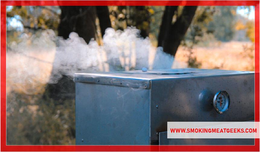 smoke coming from electric smoker