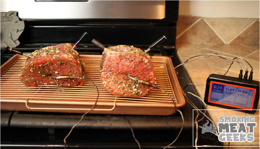 PROBE THERMOMETERS COOKING SESSION ON BEEF