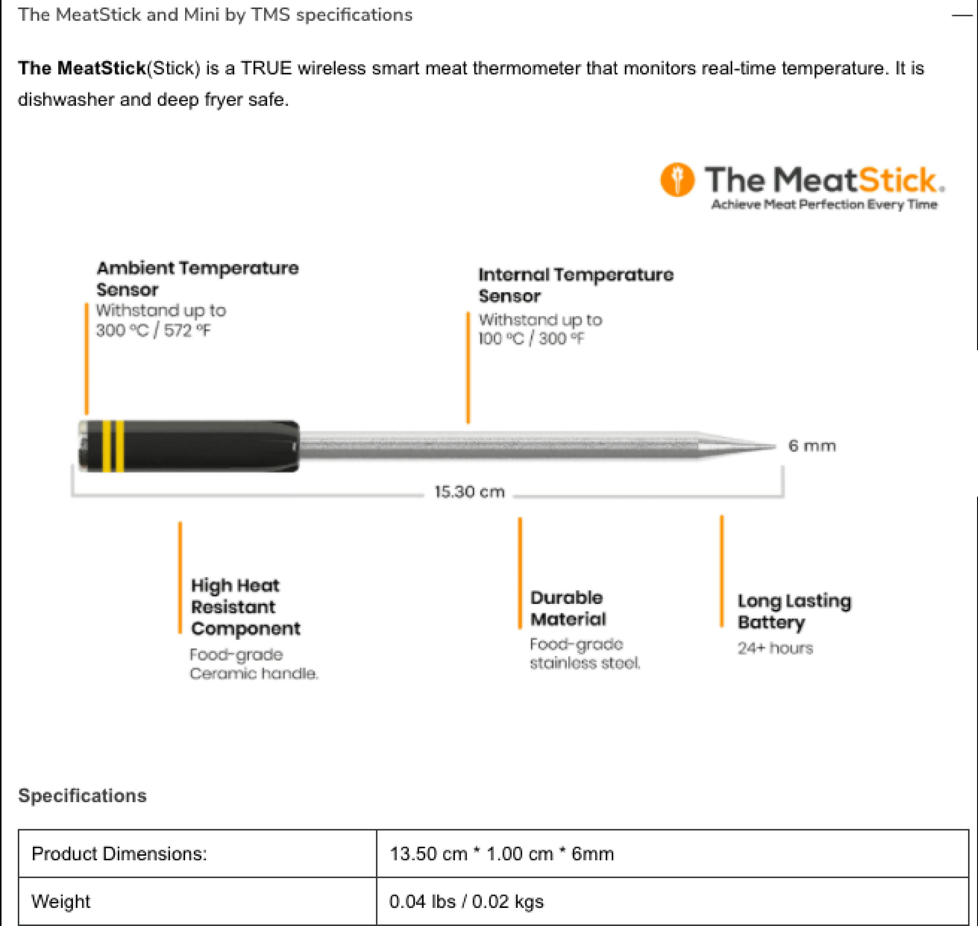 FAQ about meatstick