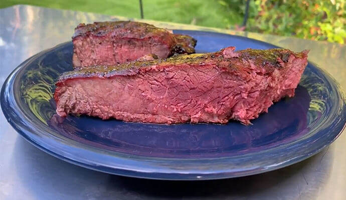 Smoking A Porterhouse Steak - Meat Geeks Style recipe