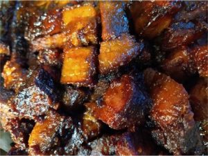 fully cooked Brisket burnt ends close up 1