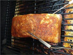 Cooking Brisket on smoker 1