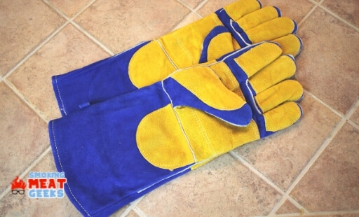 leather glove for cooking