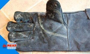 shot of gloves after being burnt