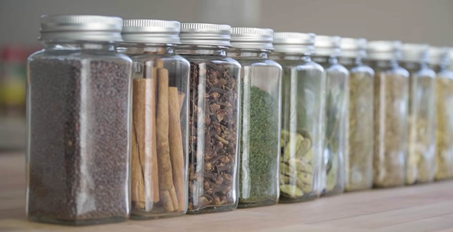 Spices for sasuage In bottles