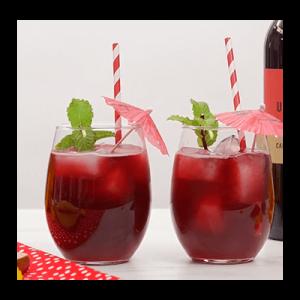 Cabernet Sauvigon cocktail in two glasses