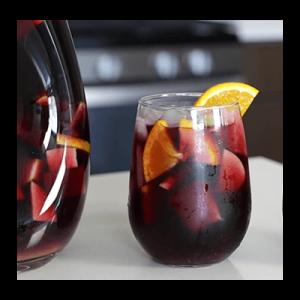 Merlot cocktail in glass
