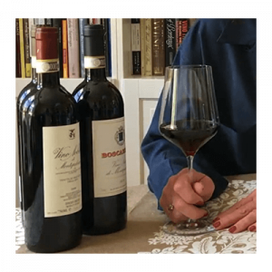 Sangiovese two bottle with glass