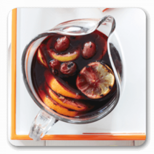 Sangria - Grilled Citrus & Grape in glass