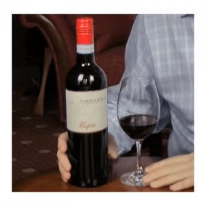 Valpolicella bottle with glass