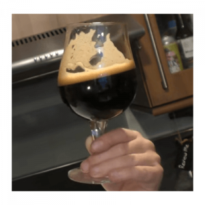 bourbon barrel aged stout in glass