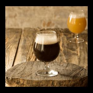Brown ale Fill in glass