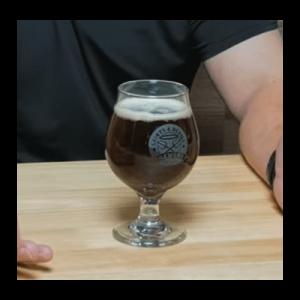 german doppelbock fill in glass