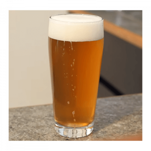 Pale ale fill in glass