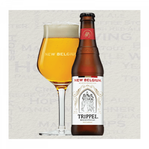 trippel ale bottle with glass